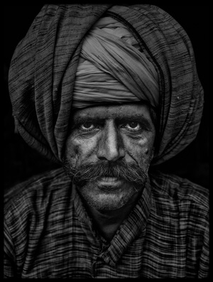 Art print titled Man from India by the artist Haitham AL Farsi