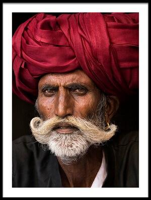 Art print titled Man from Rajasthan by the artist Haitham AL Farsi