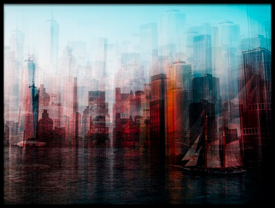 Art print titled Manhattan by the artist Carmine Chiriacò