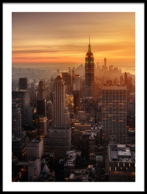 Art print titled Manhattan's Light by the artist Jorge Ruiz Dueso