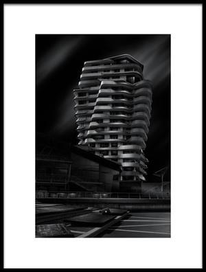 Art print titled MarcoPoloTower by the artist Matthias Hefner