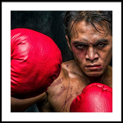 Buy this art print titled Martin the Boxer by the artist Faldhy Boer