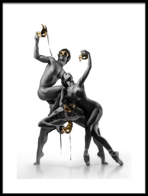 Art print titled Masks IV by the artist DDiArte