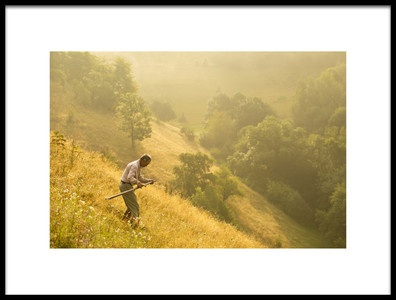 Art print titled Matinal Cu Coasa Early Moment With Scythe by the artist Vlad Dumitrescu