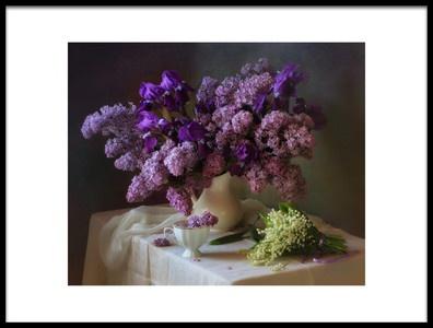 Art print titled May Bouquets by the artist Tatyana Skorokhod (Татьяна Скороход)