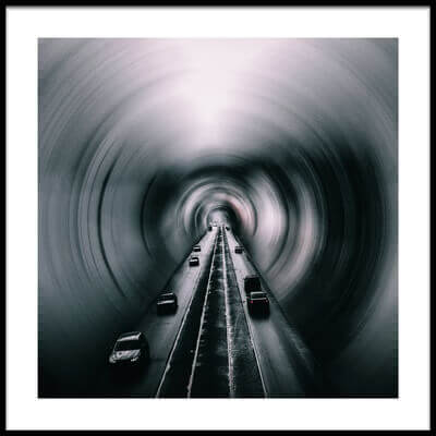 Art print titled Mazy Tunnel by the artist Igor Ishchenko