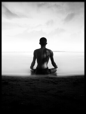 Art print titled Meditation by the artist ajie alrasyid