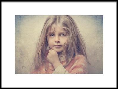 Art print titled Merciful Girl by the artist Amin Soleymani