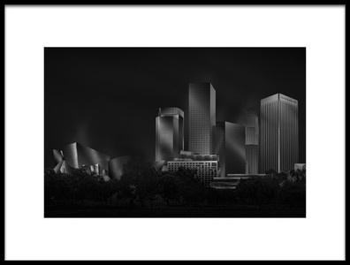 Buy this art print titled Metal Downtown LA by the artist Jose Antonio Parejo