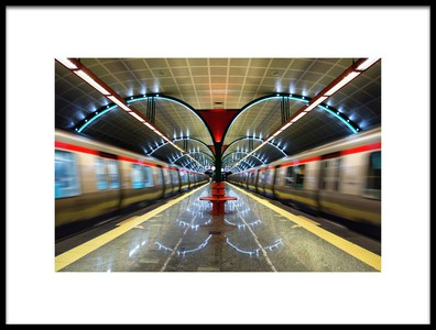 Art print titled Metro by the artist rapsody