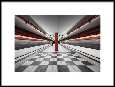 Art print titled Metro Station QuotWartenauquot by the artist Alexander Schönberg