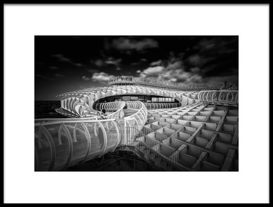 Art print titled Metropol Parasol 01 by the artist Alessio Forlano