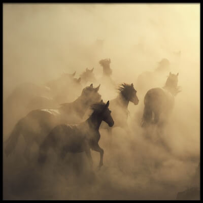 Buy this art print titled Migration of Horses by the artist Hüseyin Taşkın