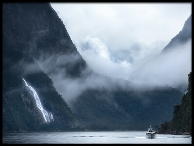 Art print titled Milford Sound Cruise by the artist FEI SHI