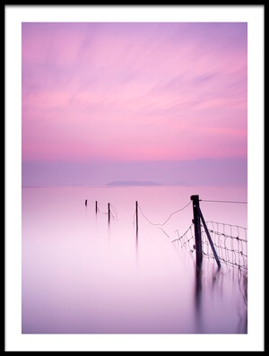 Art print titled Milky Pink by the artist Kieran O Mahony
