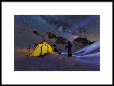 Art print titled Milky Way by the artist Carlos Gonzalez
