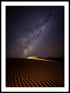 Art print titled Milky Way Over the Dunes of Sossusvlei, Namibia by the artist Karen Deakin