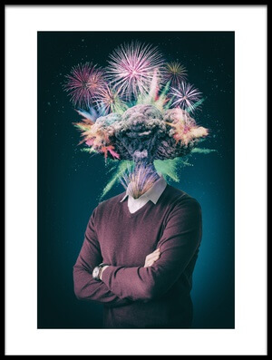 Buy this art print titled Mind Blown by the artist Ivan Stanimirov
