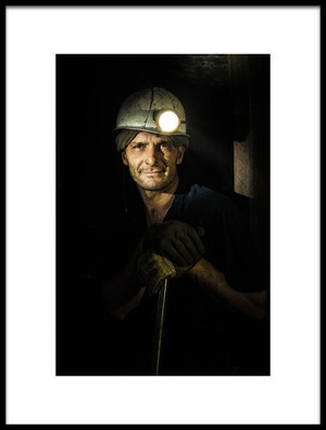Buy this art print titled Miner by the artist amir bajrich