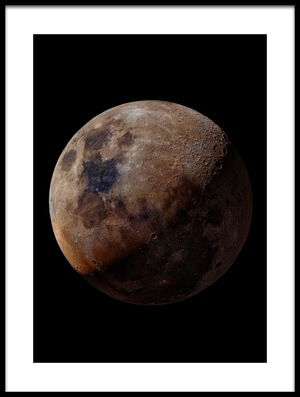 Buy this art print titled Mineral Moon by the artist GIancarlo Melis