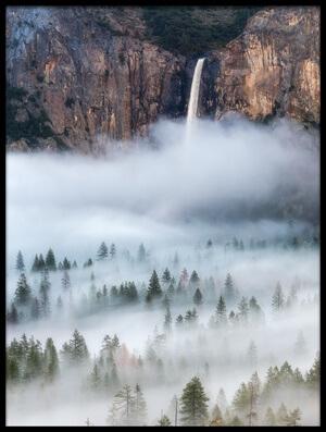 Art print titled Mist Falls by the artist Brandon Yoshizawa