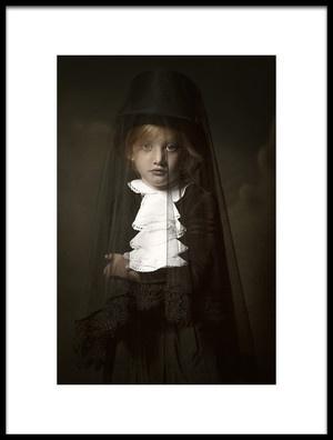 Art print titled Mistery Girl by the artist Carola Kayen-Mouthaan