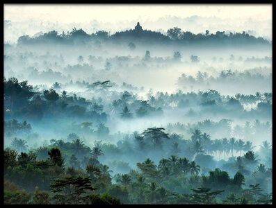 Buy this art print titled Misty Borobudur by the artist Ramdani