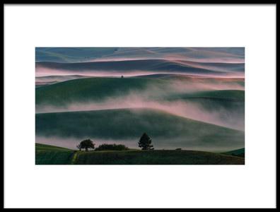 Art print titled Misty Field by the artist 李从军 / Austin Li