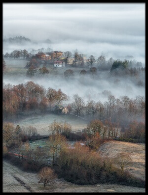 Buy this art print titled Misty Fields by the artist Riccardo Lucidi