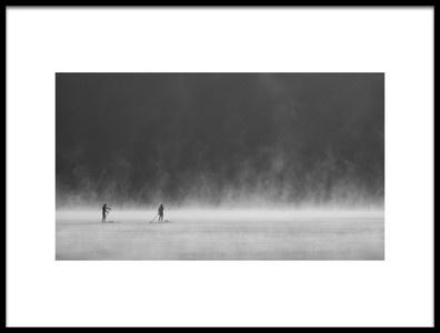 Art print titled Misty Lake 1 by the artist 李从军 / Austin Li