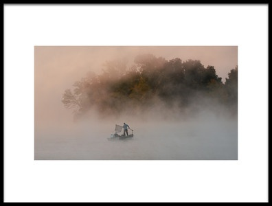 Art print titled Misty Lake 3 by the artist 李从军 / Austin Li