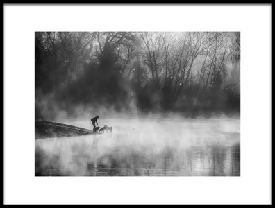 Buy this art print titled Misty Lake by the artist Jenny Qiu