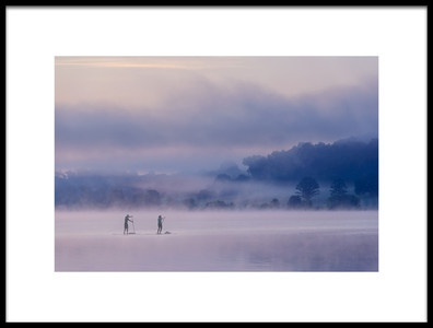 Art print titled Misty Lake 4 by the artist 李从军 / Austin Li