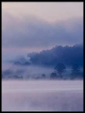 Buy this art print titled Misty Lake #4 by the artist 李从军 / Austin Li
