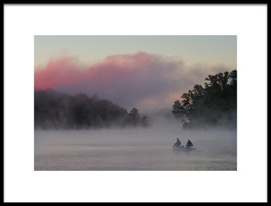 Art print titled Misty Lake 5 by the artist 李从军 / Austin Li