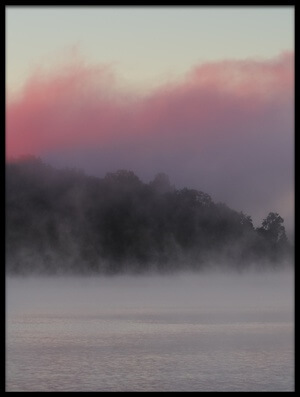 Art print titled Misty Lake #5 by the artist 李从军 / Austin Li
