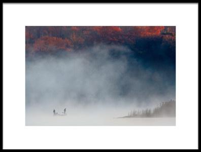 Art print titled Misty Lake 6 by the artist 李从军 / Austin Li