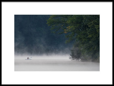 Art print titled Misty Lake 7 by the artist 李从军 / Austin Li