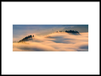 Art print titled Misty Morning by the artist Wojciech Kruczynski
