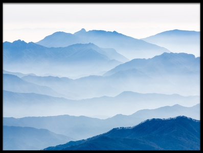 Art print titled Misty Mountains by the artist Gwangseop eom