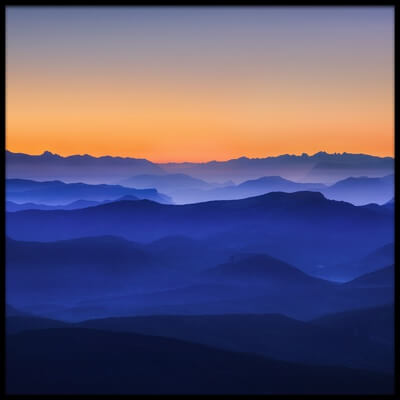 Art print titled Misty Mountains by the artist David Bouscarle