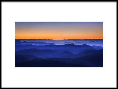 Buy this art print titled Misty Mountains by the artist David Bouscarle