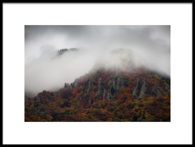 Art print titled Misty Mountains by the artist Chris Vasiliadis
