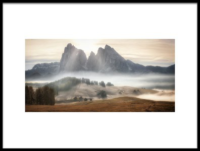 Art print titled Misty Mountains by the artist Stan Huang