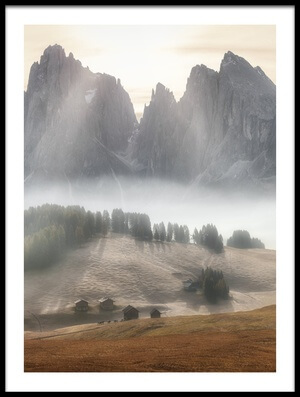 Buy this art print titled Misty Mountains II by the artist Stan Huang