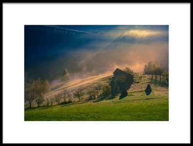 Art print titled Misty Paradise by the artist Cristian Mihart