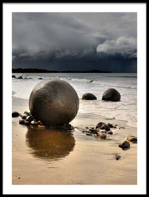 Art print titled Moeraki Round Boulders by the artist Yair Tzur
