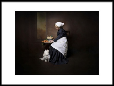 Art print titled Mom to Be Making Diner by the artist Carola Kayen-Mouthaan