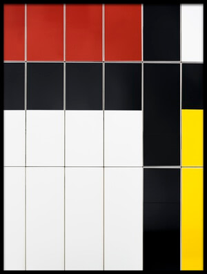 Buy this art print titled Mondriaan Facade by the artist Greetje van Son
