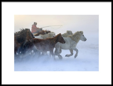 Art print titled Mongolia Winter by the artist Libby Zhang
